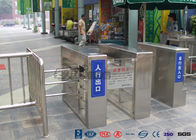 Pedestrian Swing Barrier Waist Height Turnstiles Entrance Security For Shopping Mall