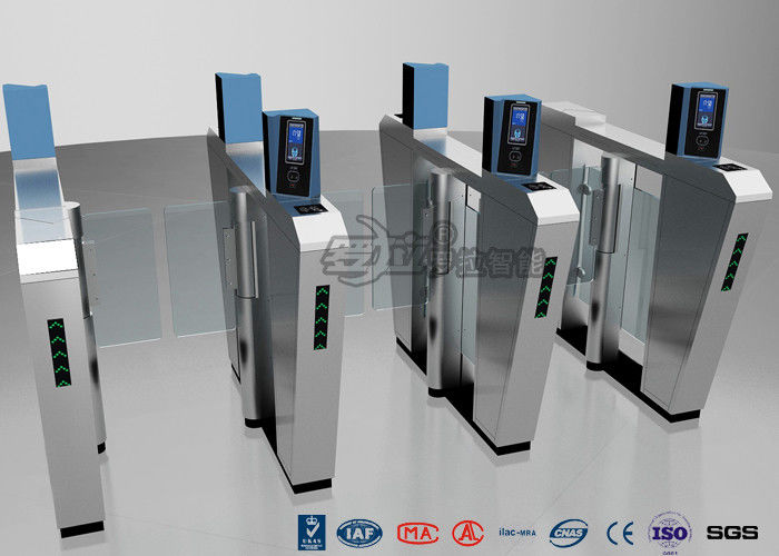 Waist Height Turnstile Security Systems , Face Recognition Speed Fastlane Turnstile