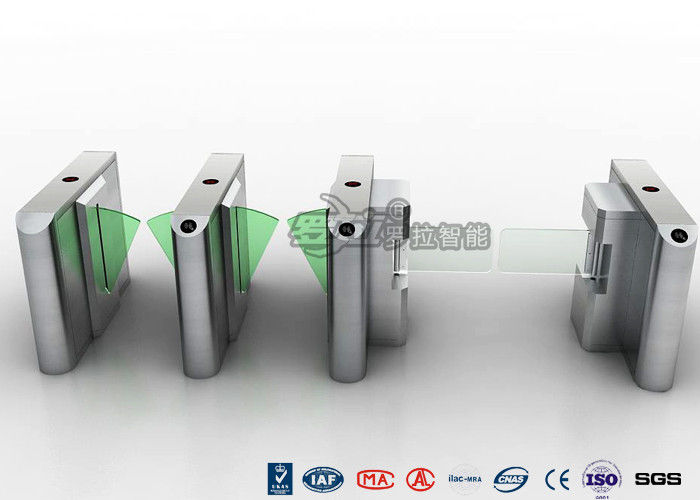 Stylish Clear Bi - Directional Turnstile Access Control With Swing Panel