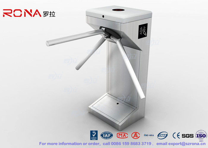 Network Access Control Tripod Turnstile Gate Semi Automatic Standing Type