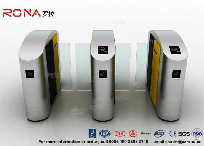 Turnstile Barrier Gate Waist Height RFID Turnstile Security Systems Automatic Flap Barrier Turn Style Door