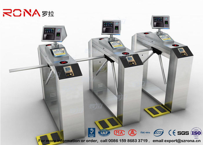 Pedestrian Facial Recognition Turnstile ESD Fingerprint Access Control Barriers