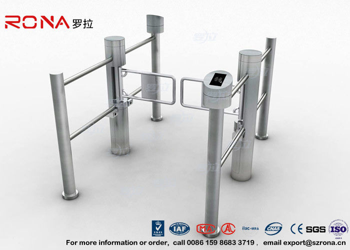 Pedestrian Entrance Automatic Swing Barrier Gate Access Control System With 304 stainless steel