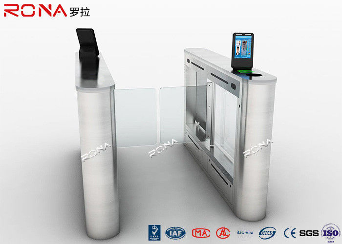 Anti Collision Entrance Turnstile Access Control System DC 24V Brush Motor Face Reader