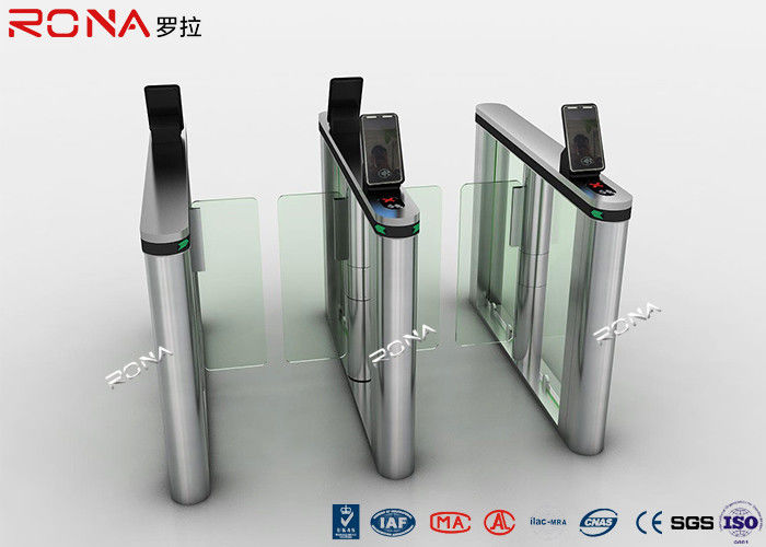 Acrylic Swing Access Control Turnstiles Face Recognition For Business Building