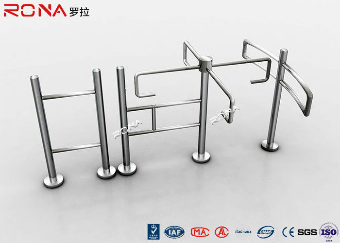 Entrance Revolving Gate Half Height Turnstiles 0.2s Opening / Closing Time