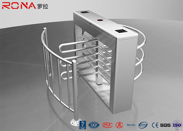 Pedestrian Swing Barrier Waist Height Turnstiles Entrance RIFD Access Control