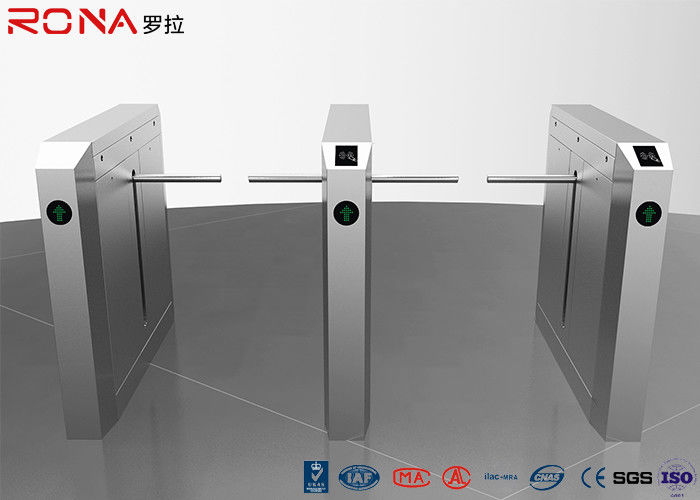 Modern Design ADA Drop Arm Turnstile Brushless DC Motor With QR Scanner