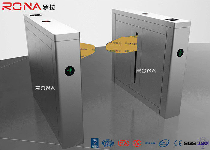 High Speed Drop Arm Turnstile Magnetic Card Stainless Steel Access Control System