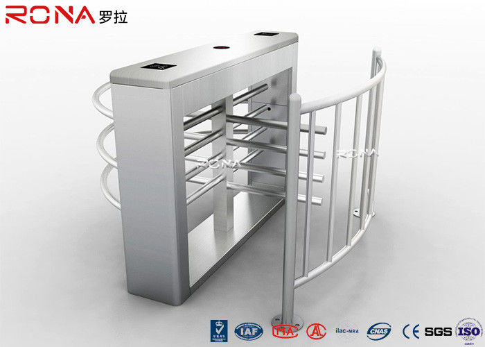 Security Half Height Turnstiles High Transit Speed Access Control System