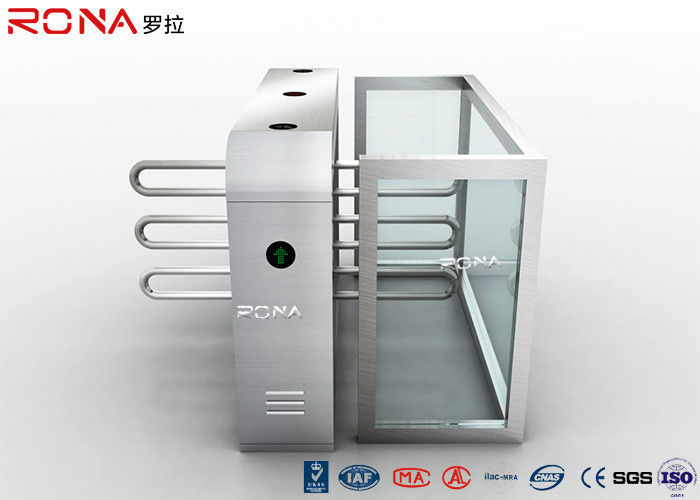 Stainless Steel Material Electronic Turnstile Access Control System 450mm Arm Length