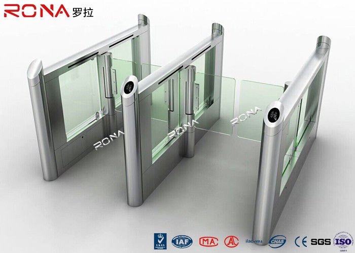 Smart Electronic Flap Waist Height Turnstiles RFID Security Gate For Pedestrian Control
