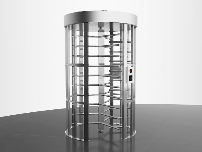 Single Lane Stainless Steel Turnstiles , Pedestrian Turnstile Gate Anti Backup Function